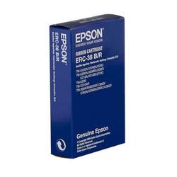 Epson - Epson ERC-30/ERC-34/ERC-38/C43S015376 Kırmızı-Siyah Muadil Şerit