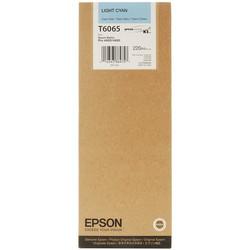 EPSON - Epson T6065-C13T606500 Açık Mavi Orjinal Kartuş