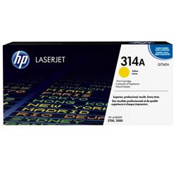 HP - Hp 314A-Q7562A Sarı Orjinal Toner