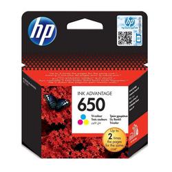 HP - Hp 650-CZ102AE Renkli Orjinal Kartuş