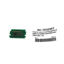 KYOCERA - Kyocera TK-5220 Sarı Toner Chip