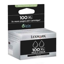 Lexmark - Lexmark 100XL-14N0848 Siyah Orjinal Kartuş Yüksek Kapasiteli 2li