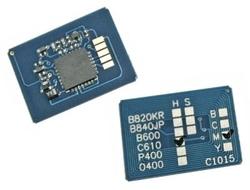 Oki - Oki C610-44315323 Mavi Toner Chip