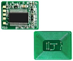 Oki - Oki C801-44643007 Mavi Toner Chip
