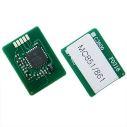OKI - Oki MC851-44059171 Mavi Toner Chip
