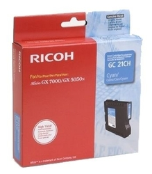 RICOH - Ricoh Aficio GC-21CH Mavi Orjinal Kartuş